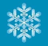 Blauwe sneeuwvlok Royalty-vrije Stock Fotografie