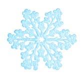 Blauwe sneeuwvlok Royalty-vrije Stock Afbeelding