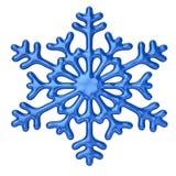 Blauwe sneeuwvlok Stock Foto's