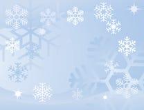 Blauwe sneeuwvlokachtergrond Royalty-vrije Stock Afbeelding