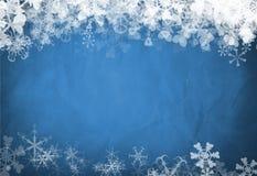 Blauwe sneeuwvlokachtergrond Stock Afbeeldingen