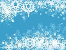 Blauwe sneeuwvlokachtergrond Royalty-vrije Stock Afbeeldingen