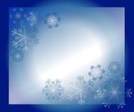 Blauwe sneeuwvlokken stock illustratie