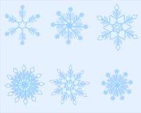 Blauwe sneeuwvlokken Stock Foto's
