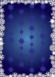 Blauwe snowcapped achtergrond Stock Afbeelding
