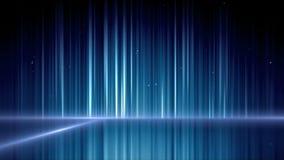 Blauwe spiegeloppervlakte met bel het toenemen stock video