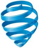 Blauwe spiraal Stock Foto's