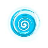Blauwe spiraal Stock Foto