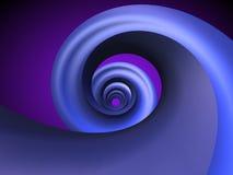 Blauwe Spiraal Royalty-vrije Stock Afbeeldingen