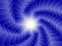 Blauwe spiraal van vierkanten vector illustratie