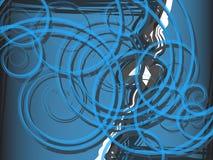 Blauwe spiraalvormige abstractie als achtergrond Stock Fotografie