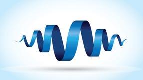 Blauwe spiraalvormige achtergrond Royalty-vrije Stock Fotografie