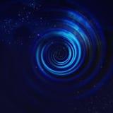 Blauwe Spiraalvormige Draaikolk vector illustratie