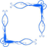 Blauwe Spiraalvormige Hoeken Royalty-vrije Stock Afbeelding