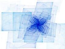 Blauwe Spiraalvormige Kubussen stock illustratie