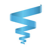 Blauwe spiraalvormige lintvector Royalty-vrije Stock Foto's
