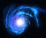 Blauwe spiraalvormige melkweg. vector illustratie