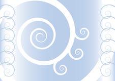 Blauwe spiralen vector illustratie