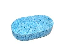 Blauwe spons Royalty-vrije Stock Afbeeldingen