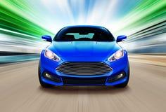 Blauwe sportraceauto Royalty-vrije Stock Afbeelding