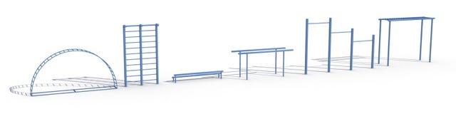 Blauwe sportuitrusting op â1 Royalty-vrije Stock Fotografie