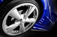 Blauwe Sportwagen Stock Foto