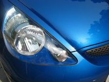 Blauwe Sportwagen royalty-vrije stock afbeelding