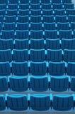Blauwe stadionzetels Royalty-vrije Stock Foto
