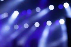 Blauwe Stadiumlichten Stock Afbeelding