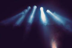 Blauwe Stadiumlichten Stock Afbeeldingen