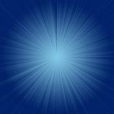 Blauwe starburst Stock Afbeeldingen