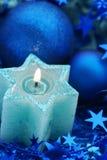 Blauwe Starcandle Royalty-vrije Stock Foto