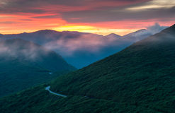 Blauwe Steile de Tuinentop van Ridge Parkway Sunrise North Carolina Royalty-vrije Stock Fotografie