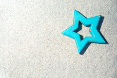 Blauwe ster Stock Afbeelding