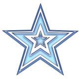 Blauwe ster vector illustratie