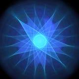 Blauwe ster Stock Afbeeldingen