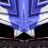 Blauwe ster royalty-vrije stock afbeelding