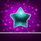 Blauwe ster op fiolet abstract Gelukkig Nieuwjaar. EPS 8 Stock Foto's