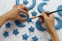 Blauwe sterren Royalty-vrije Stock Afbeelding