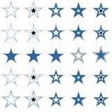 Blauwe sterren. De elementen van het ontwerp. Vector. Stock Foto's