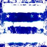 Blauwe Sterren Grunge Stock Afbeelding