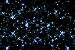 Blauwe sterren op de hemel Stock Afbeeldingen