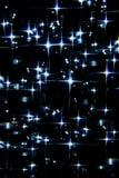 Blauwe sterren op de hemel Royalty-vrije Stock Afbeeldingen