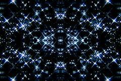 Blauwe sterren op de hemel Stock Afbeelding