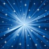 Blauwe sterren vectorachtergrond Stock Afbeeldingen