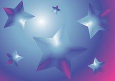 Blauwe sterrenachtergrond Stock Afbeeldingen