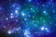 Blauwe sterrenachtergrond Stock Foto's