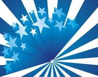 Blauwe sterrenachtergrond Royalty-vrije Stock Afbeelding