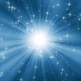 Blauwe sterrige hemel vector illustratie