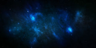 Blauwe sterrige hemelruimte Royalty-vrije Stock Foto's